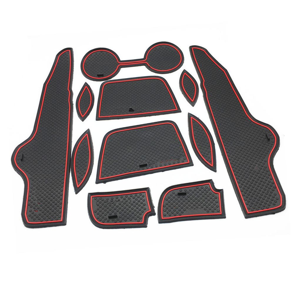 Non-slip Rubber Cup Holder Sticker Gate Slot Pad Door Groove Mat styling For <font><b>Toyota</b></font> <font><b>Corolla</b></font> 2007 2008 2009 2010 <font><b>2011</b></font> 2012 <font><b>2013</b></font> image