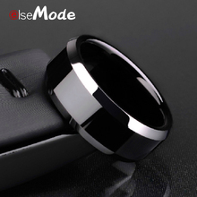 ELSEMODE High Quality Titanium Stainless Steel Rings Black For Men Gold Silver Blue Multi Color Smart US Size 5-13(China)