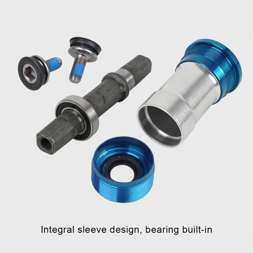 New Style For Fixed Cog Mountain Bike Sealed Bottom Bracket Bicycle Central Bearing Axis Palin Square Hole Center Axle Screw