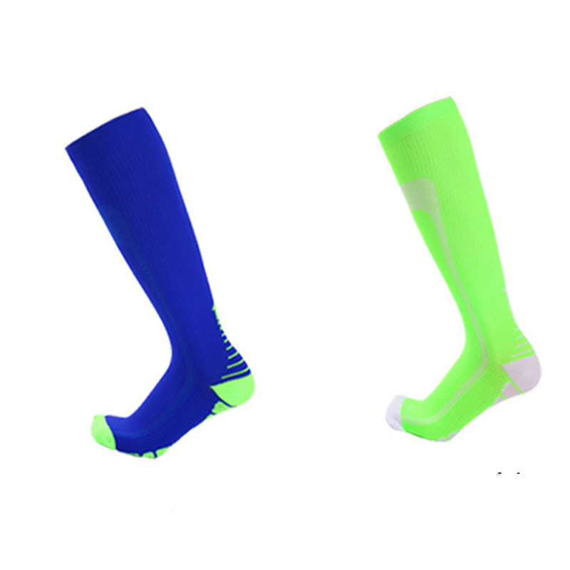 Green Athletic Cycling Socks Striped Running Recovery Compression Sock Outdoor Sport Skiing Sock Men Gym Active Wear Toe Socks