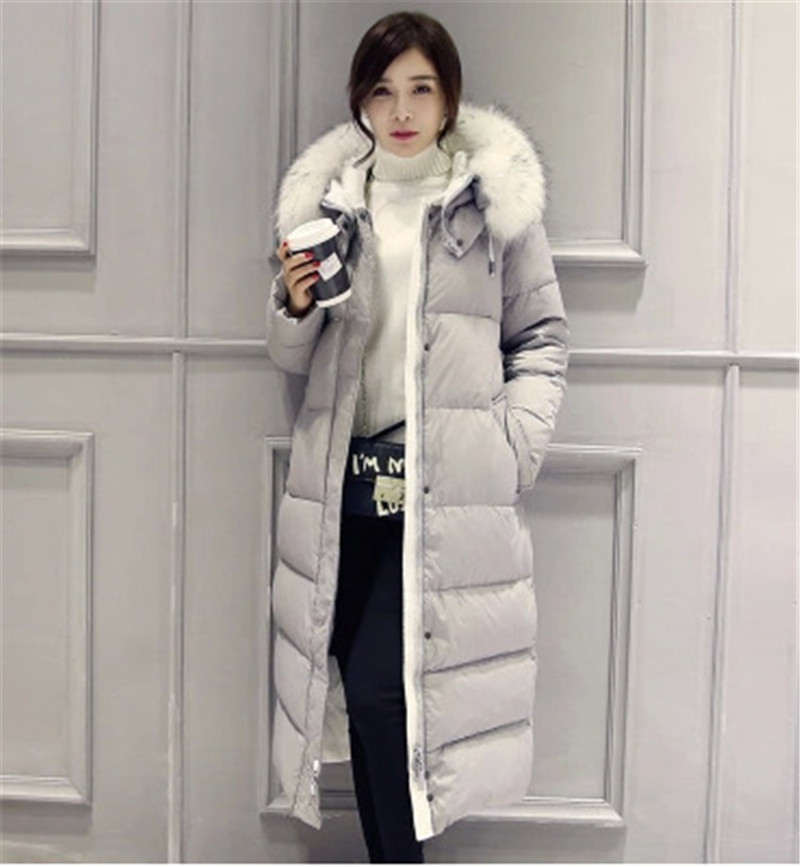 Fur Collar Hooded Down Cotton Padded Women Winter Down&Parka Winter Jackets Women Winter Clothing Long Coats Female Wadded TT125 2017 winter down jackets women winter coats female long hooded cotton padded parka wadded outwear chaquetas invierno mujer yl739