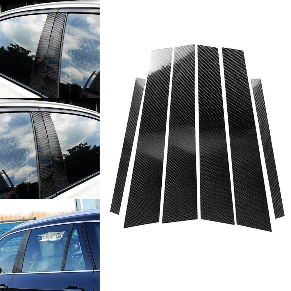 Nouveau 1 Set voiture fenêtre b-piliers autocollants moulage garniture style accessoires pour BMW E70 E90 F10