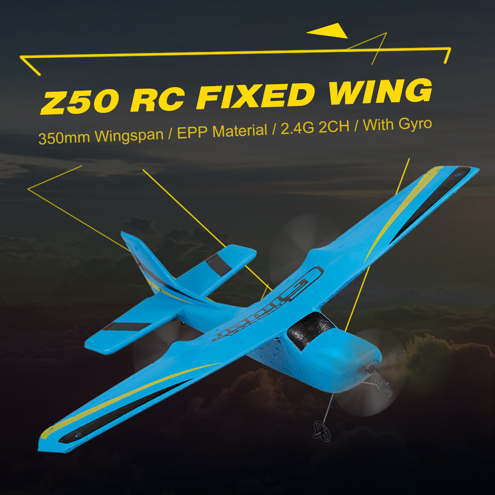 Z50 2.4G 2CH Remote Control Glider 350mm Wingspan EPP Micro Indoor RC Airplane Aircraft with Gyro RTF Toys for Children eboyu tm volantex rc tw781 cessna 2 4g 2ch rc airplane 200mm wingspan mini epp infrared remote control indoor drone aircraft