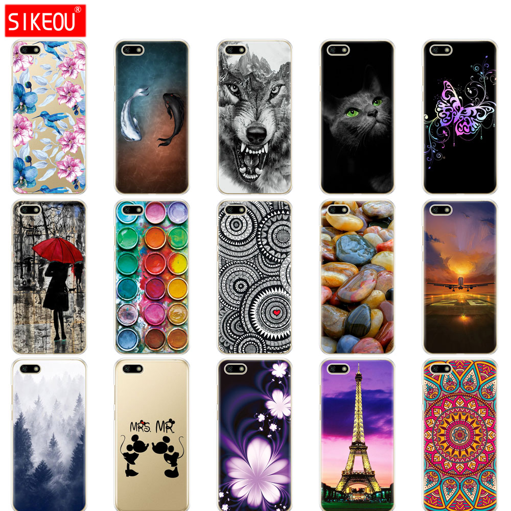 "Silicone case For Huawei Honor 7A Case 5.45"" inch Soft Phone Case on Huawei Honor 7A 7 A DUA-L22 Russian Back Cover Coque bumper 1"