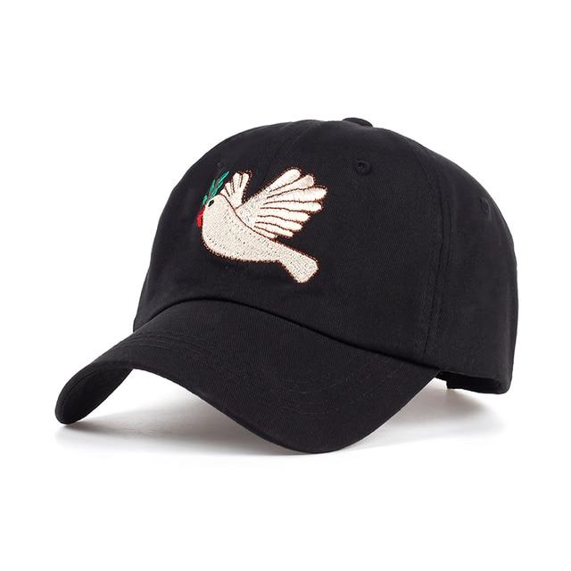 TUNICA Brand 2017 New Peace Dove Cartoon Cap Women Baseball Caps Fashion  Dad Hats Black Casual Cap cappello donna hip hop Hats 7699ccfe2b9f