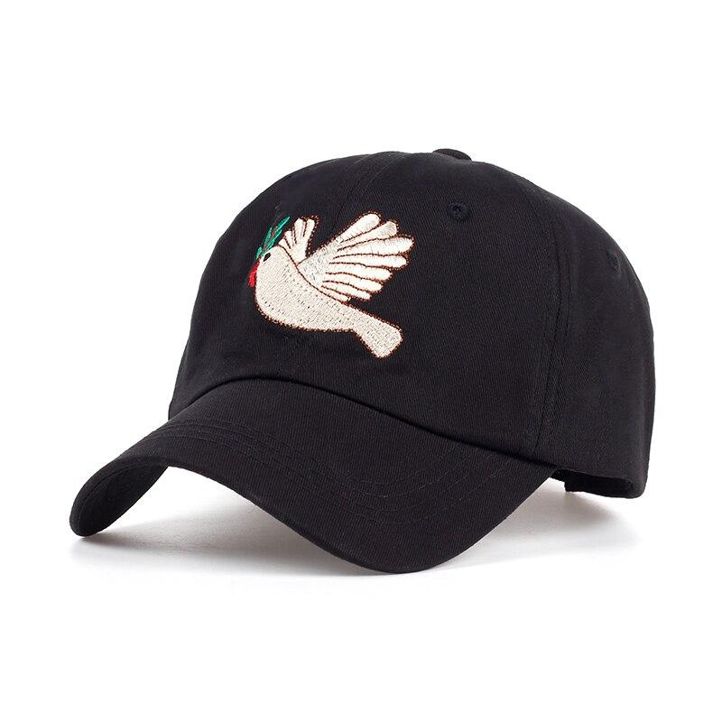 TUNICA Brand 2017 New Peace Dove Cartoon Cap Women Baseball Caps Fashion Dad Hats Black Casual Cap cappello donna hip hop Hats