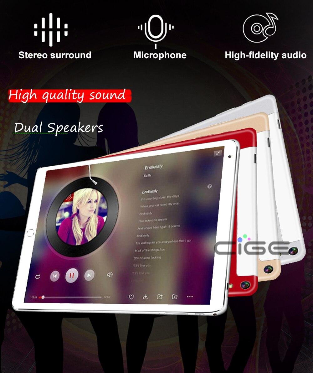 CIGE newest 10 1 Octa Core 3G 4G LTE Original Android 6 0 Tablet PC 4G RAM  64G ROM 1280X800 IPS Dual SIM Phone Call Tablets-in Phone Call Tablets from