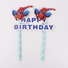 1 комплект Человек-паук с днем рождения торт украшения для кексов детский душ День рождения Свадебные украшения