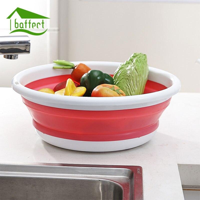 Bunte Folding Kunststoff Waschbecken Außen Tragbaren Waschbecken  Lebensmittelbehälter Einfach Speicher Badezimmer Küche Wasch Zubehör