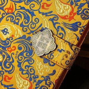 Image 3 - 50 シート古典中国スタイル彫ノートブッククリエイティブ中国のドラゴン錦織メモ帳ファッションビジネスギフトノートブック
