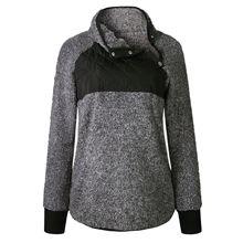 Otoño sudadera Sherpa de las mujeres de gran tamaño de lana de las mujeres  ocasionales jerseys sudadera 984ec6b16808