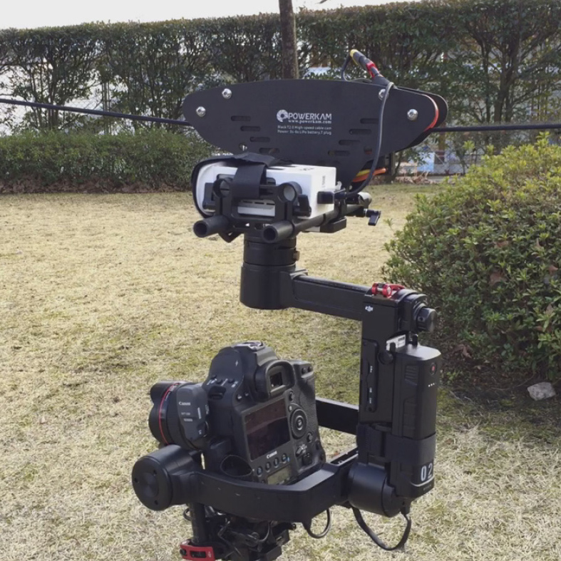 PowerKam Black T2.0 cablecam system for filmmaking with max 130km/h speed for RONIN,RONIN M,RONIN MX ronin master y 721
