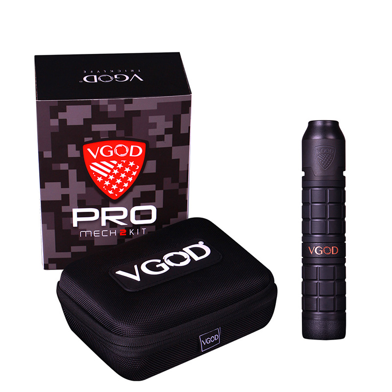 New Arrival Original VGOD Pro Mech 2 Kit with 2ml VGOD Elite Rda pro mech 2 mod upgraded VGOD pro mech mod as vgod elite mod new vgod pro mech 2 kit vgod pro mech 2 mod vape with 2ml vgold elite rdta powered 18650 battery electronic cigarette vape kit