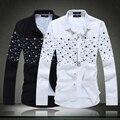 Новый 2016 Camisa Masculina Белье Платье Рубашки Высокого Качества Вскользь Рубашка, человек Плюс Размер 4XL 5XL Slim Fit Социальные Рубашки #9930