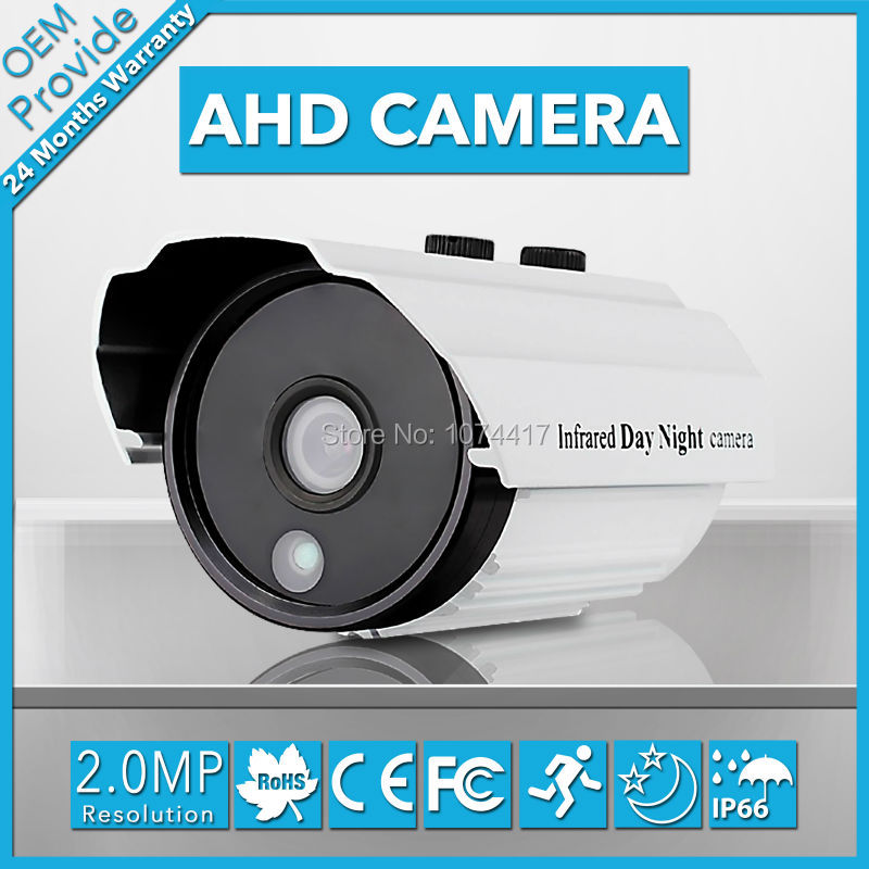 AHD3130LT 1080P IP66 Waterproof Bullet Outdoor/Indoor AHD Camera 2.0MP CCTV System IR Cut 1080P Lens Without Bracket wistino cctv camera metal housing outdoor use waterproof bullet casing for ip camera hot sale white color cover case