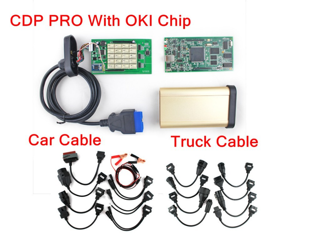 with keygen on cd full oki chip tcs cdp pro (Compact Diagnostic Partner ) With full set cables for car & truck scanner tool