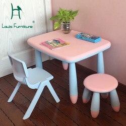 Louis Fashion mesas para niños Silla de escritorio aprendizaje Fortalecimiento de