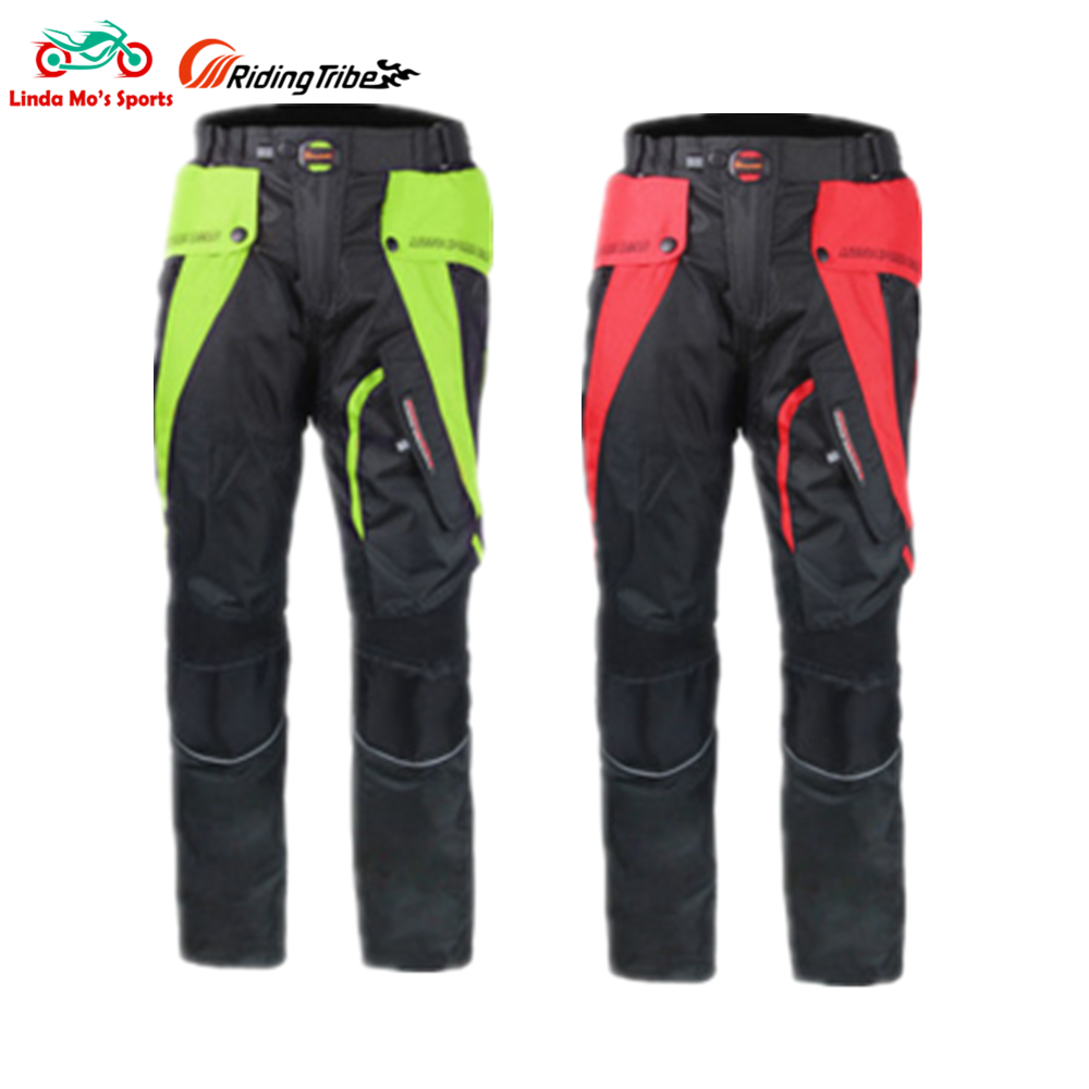 RIDING TRIBE Men Motorcycle pants motocross Motorbike Riding Trousers with protectors sets windproof racing pants Moto pants