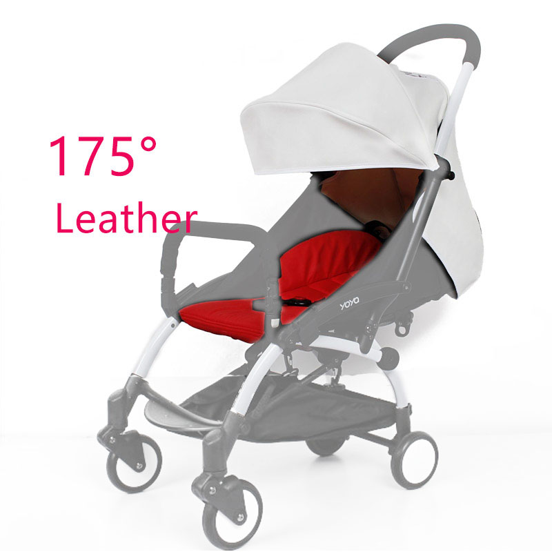 BABY YOYA 175 Degree Leather Or Flax Sun Cover And Seat Cushion Set New Arrival Colorful Baby Stroller Accessories