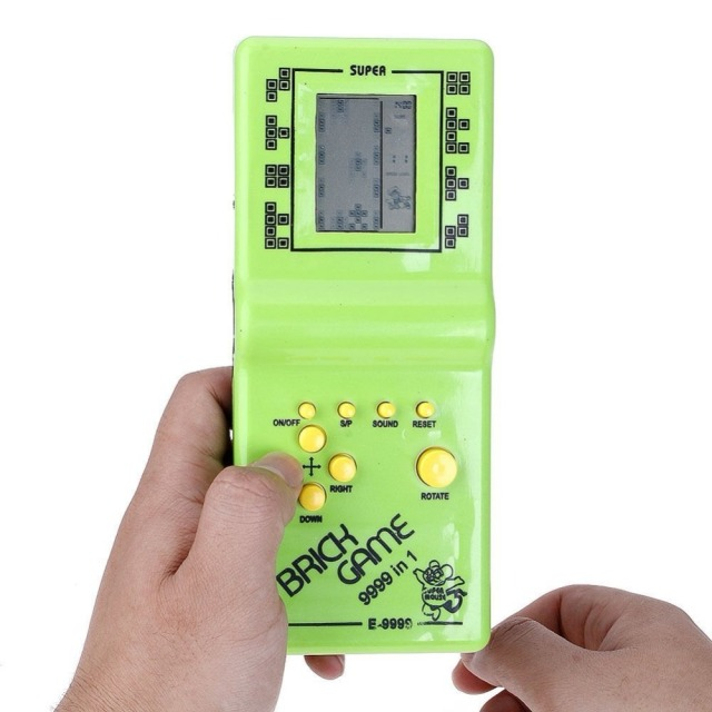 US $2 75 5% OFF|Classic Tetris electronic portable LCD game console  children's Handheld Game children's puzzle toys video game console best  gift-in