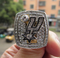 Free Shipping 2014 San Antonio Spur Championship Ring DUNCAN Best Fan Gift Replica Alloy Ring wholesale Basketball Sport Gift