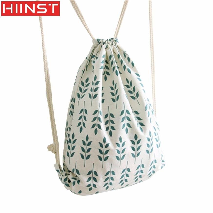 2017 New Hot Fashion Women Wheat Ear Drawstring Beam Port Backpack Shopping Bag Travel Bag Famous Brand MAY10