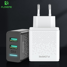 FLOVEME 5V LED Dual USB Charger Charging For iPhone iPad Samsung Xiaomi Fast Wal