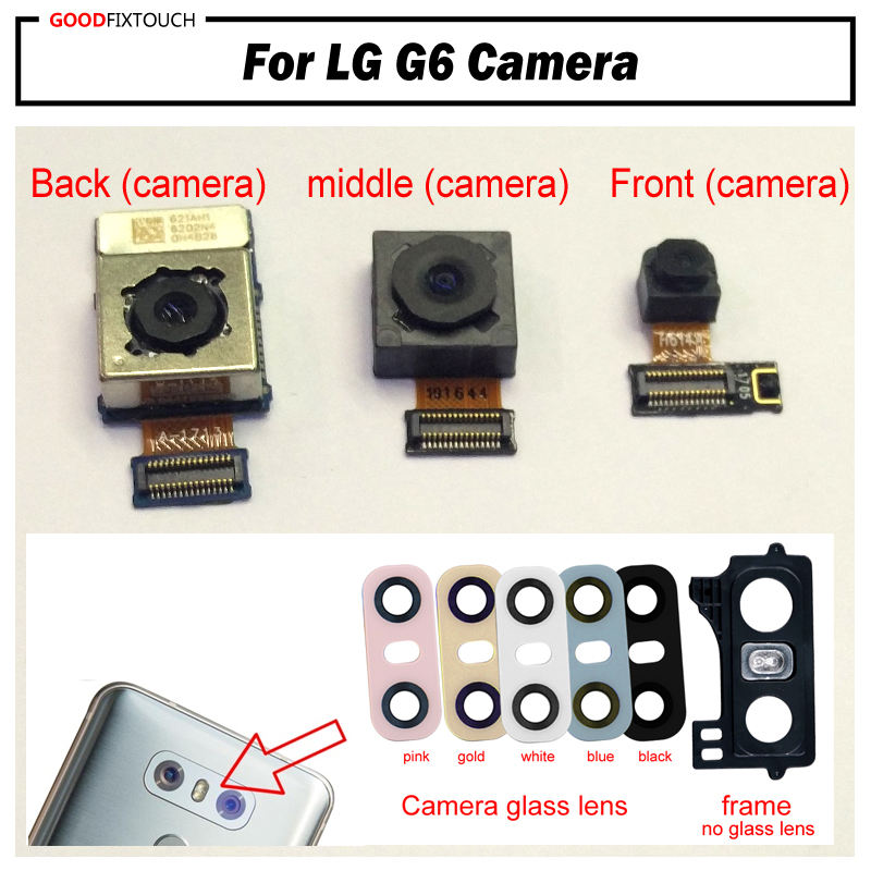 Tested Original For LG G6 H870 H871 H872 LS993 VS998 US997 H873 Back Rear Camera With Front Small Camera + Glass Lens + Frame