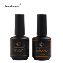 fengshangmei 15ml Base And Top Set No Wipe Diamond Top for Gel Varnish Nail Led UV Gel Lacquer Tops