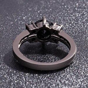 Image 4 - สีดำ 14K Obsidianแหวนเพชรผู้หญิงPeridot MysticอัญมณีBizuteria Anillos Deเครื่องประดับCharmคู่Diamanteแหวน 2019