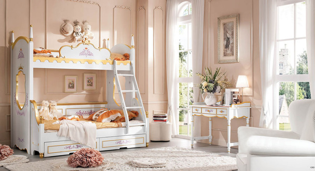 Etagenbett Mit Schrank Und Schreibtisch : Barock etagenbett kinder bedroom set kid massivholz dekorativen