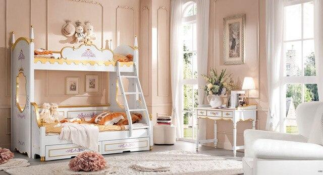 Slaapkamer Meubels Kind : Barokke stijl stapelbed kinderen kind slaapkamer set massief