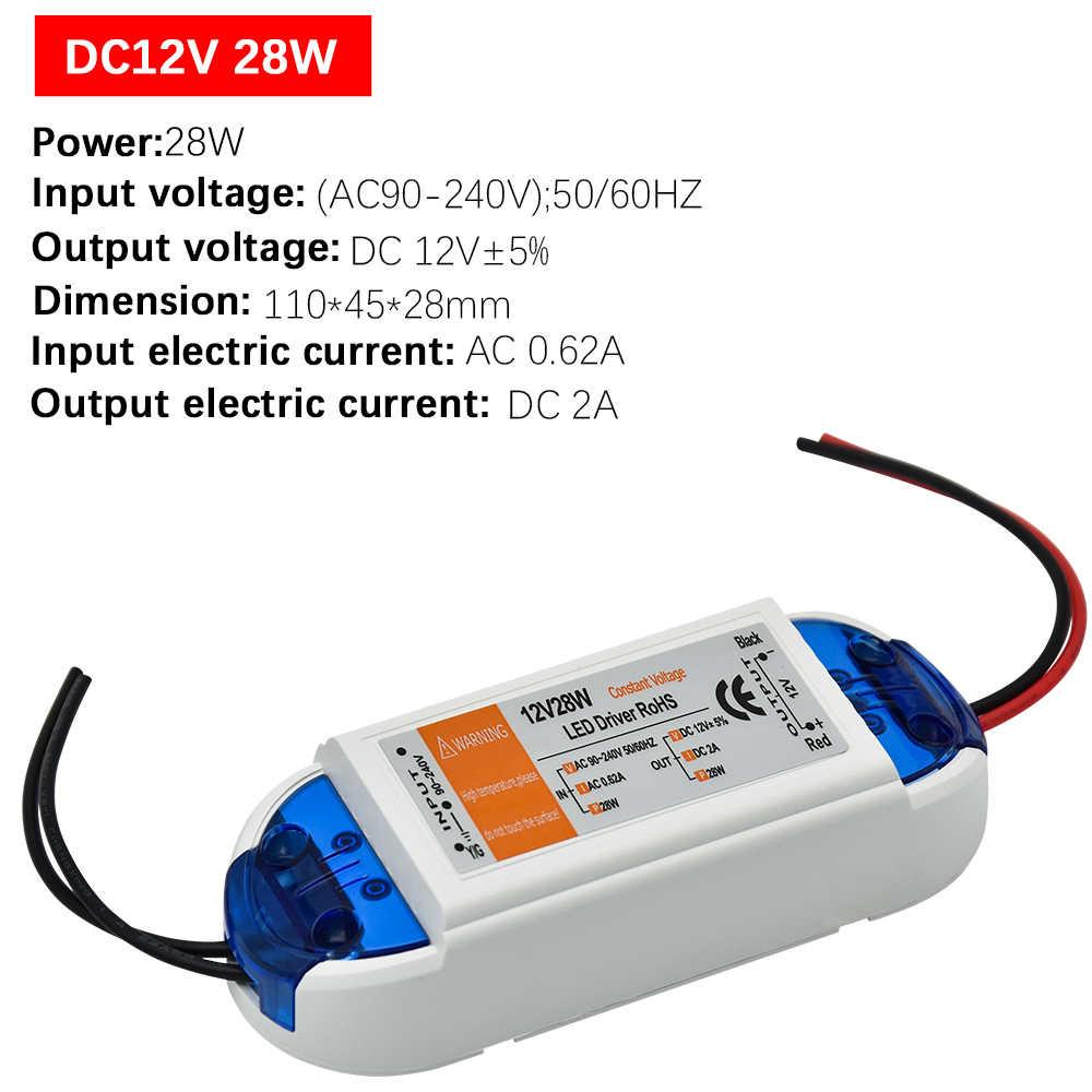 1 шт. DC12V Питание светодиодный драйвер 18 Вт/28 Вт/48 Вт/72 Вт/100 W адаптер Освещение трансформаторный блок для Светодиодные ленты потолочный светильник