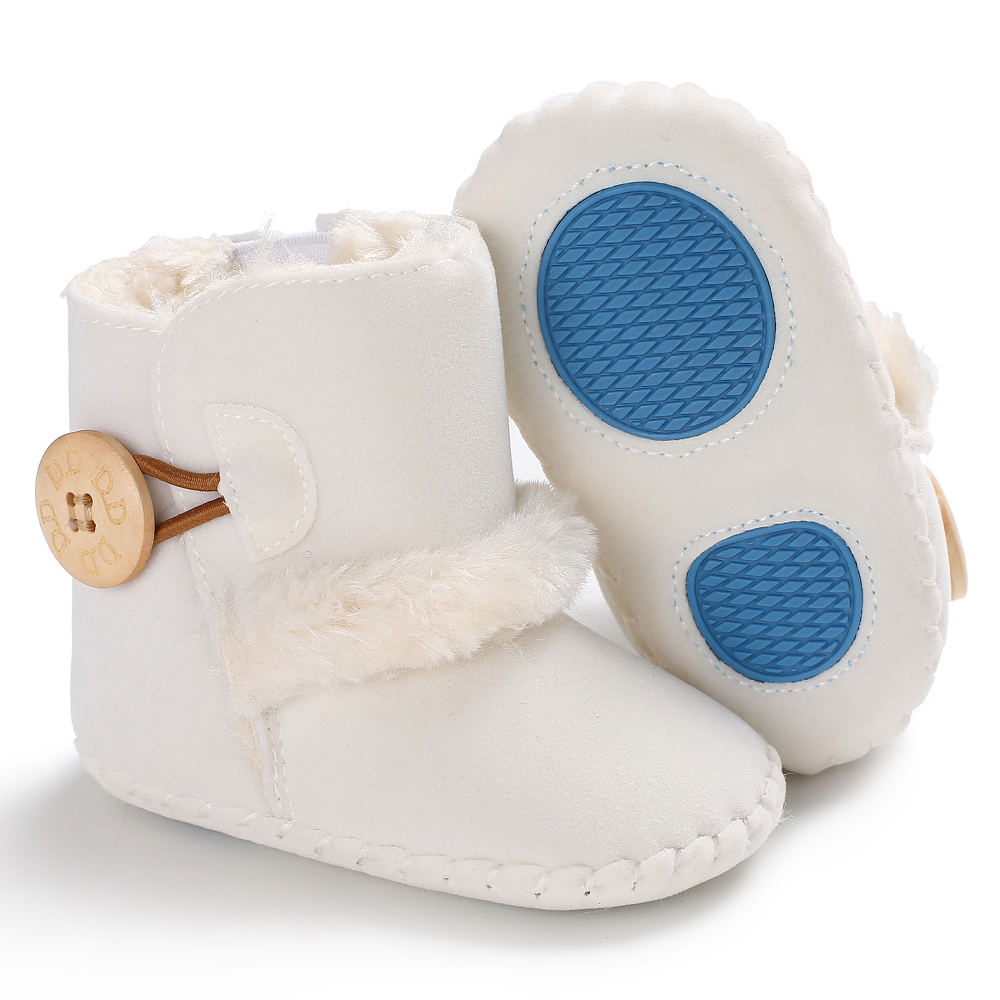 Baby Girls Boys Snow Boots Non-slip Winter Half Boots Newborn Soft Bottom Shoes