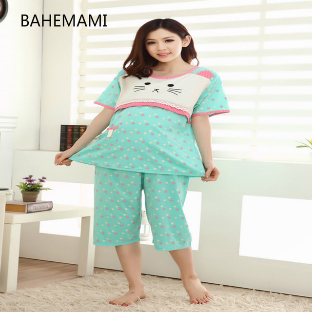 Zwangerschapskleding Pyjama.Bahemami Zomer Blauwe Polka Dot Jurken Voor Zwangere Chic