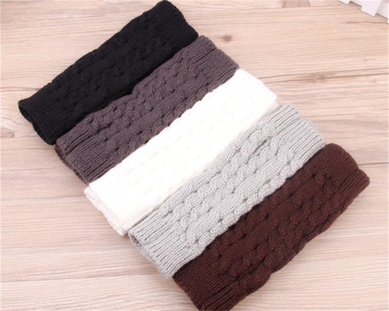 1 par mujeres mitones sin dedos Manguitos Knitting lana brazo manga ...