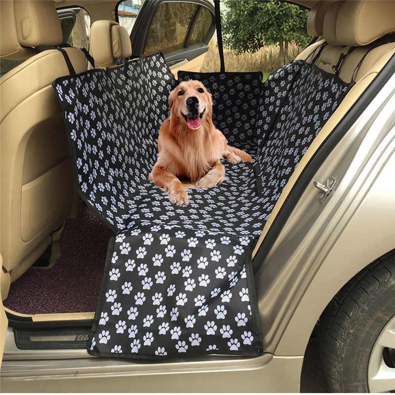 Padrão de pegada impermeável dobrável oxford tecido pet protector traseiro  capa de assento carros esteira|Capas p/ assento de automóveis| - AliExpress