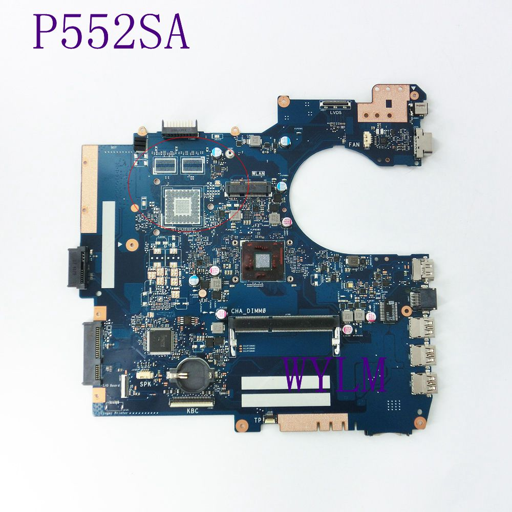 P552SA mainboard REV2.1 For ASUS P552SA P552SJ Laptop motherboard 60NX00P0-MB1510 DDR3 100% Tested working free shipping figure skating clothing black ice skating dress custome hot sale girls skating suit absorb sweat washable spandex dance wear