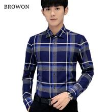 Mens Shirts Fashion 2017 Spring Autumn Plaid Checker Mens Tartan Shirts Long Sleeve Men Slim Fit