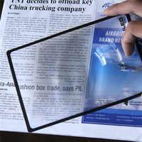 Xinxiang Ultra-dünne Lupe 3X Gläser Lupe Lupe 180X120mm A5 Flache PVC Lupe Blatt Buch seite Lupe Glas