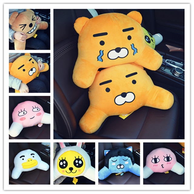candice guo plush toy soft car seat waist pillow cushion South Korea kakao friends hold RYAN gift test fart peach king funny 1pc