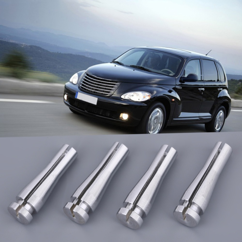 4pcs/set Silver Auto Car Cab Rear Vehicle Door Latch Cable Repair Kit Fit For Ford F150 F250 F350 Car Accessory E150 E250 E350