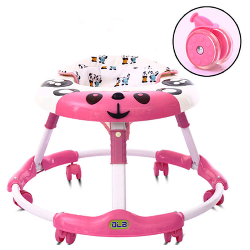 цены Foldable Baby Learning Multifunctional Baby Walker with 6 Wheels Anti Rollover Walker Car Walking Assistant Music Light 7~18 M