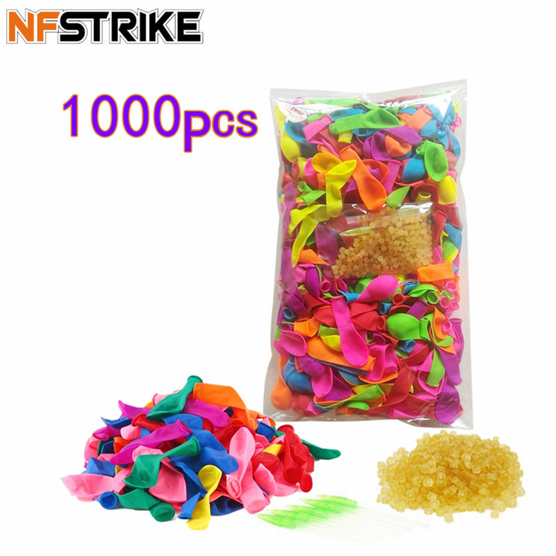 1000pcs Funny Water Balloons Toys For Kids Adult Beach Party Outdoor Refill Kit +1000pcs Rubber Bands+ 5 Replace Tools