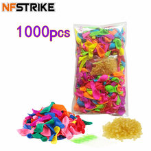1000Pcs Funny Water Balloons Toys For Kids Adult Beach Party Outdoor Refill Kit +1000pcs Rubber Bands+ 5 Replace Tools(China)