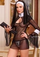 Японский сексуальная косплей костюмы Бесплатная Доставка ГОРЯЧЕЙ продажи Сексуальный костюм монахиня 3S1398 монахиня хэллоуин костюмы