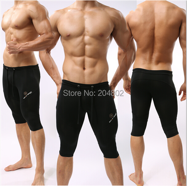 New BRAVE PERSON Brand Mens SportsTrunks Fitness Boxer Brief Cropped Swimwear shorts Trousers Size S M L#FY02