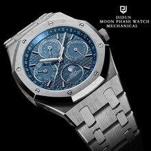 DIDUN Relojes Hombres Mecánico Automático Reloj Superior de la Marca de Lujo Fase Lunar Calendario Reloj de Buceo Impermeable