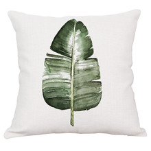 Tropical Plants Printed Cushion Cases