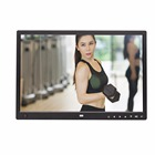 15 inch 16X9 body sensor touch buttons infront HD loop playback video player digital photo frame digital album support 1080P